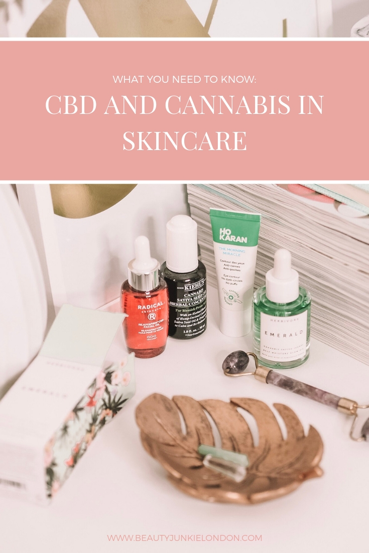 CBD and Cannabis skincare pin
