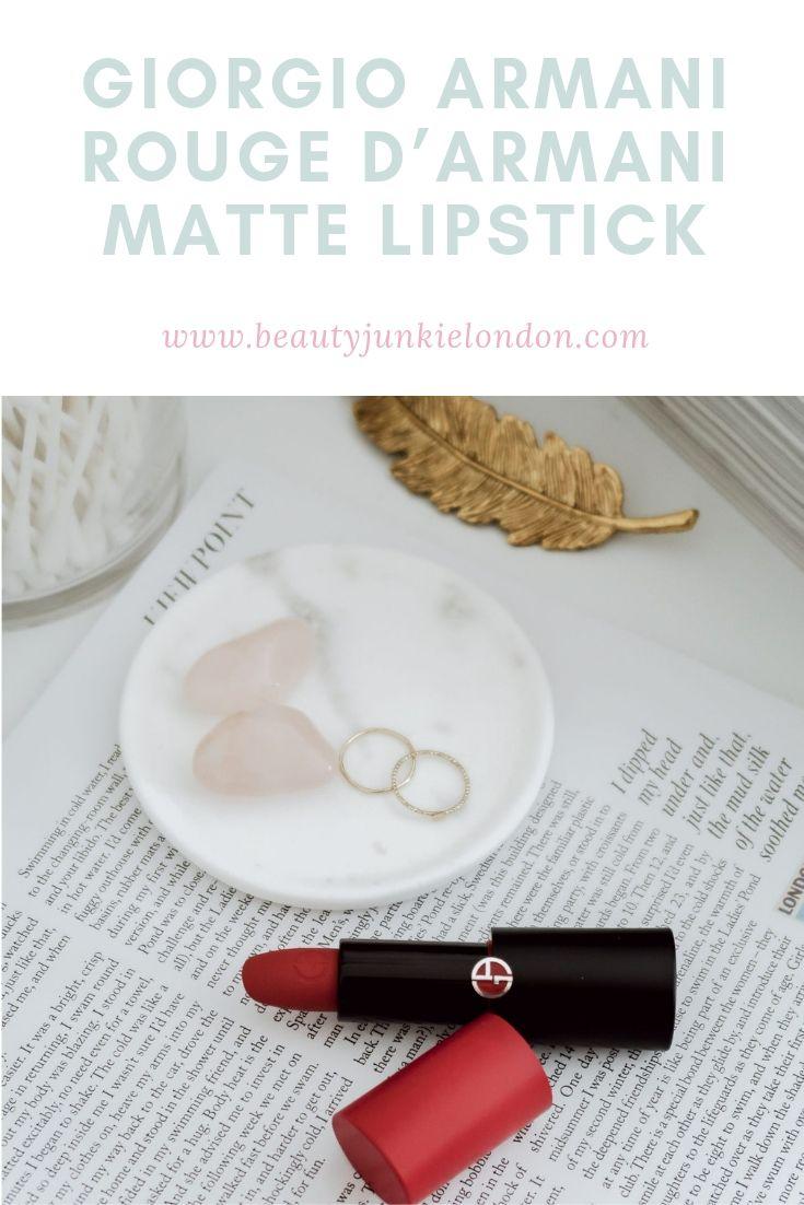 Giorgio Armani Rouge d'Armani Matte Lipstick pin