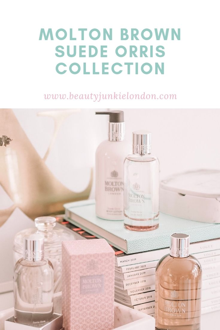 Molton Brown Suede Orris Collection pin